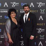 Alberto Rodríguez en la alfombra roja de los premios Goya 2015