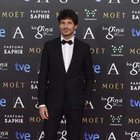 Andrés Velencoso en la alfombra roja de los Goya 2015