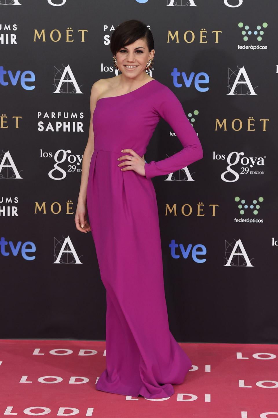 Angy Fernández en los premios Goya 2015