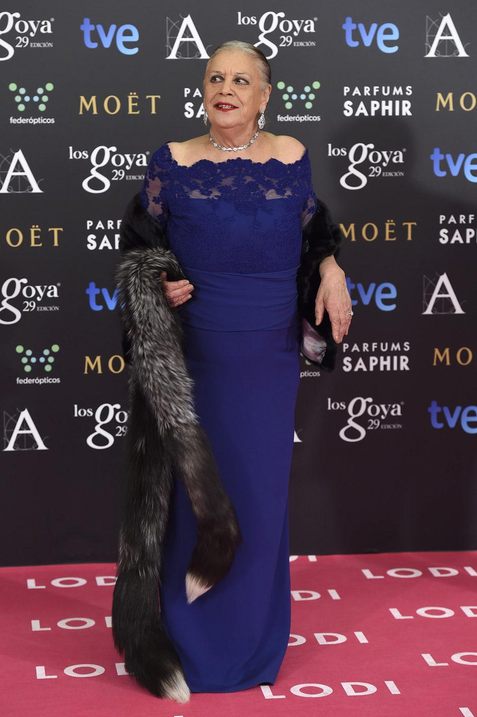 Terele Pávez en los premios Goya 2015