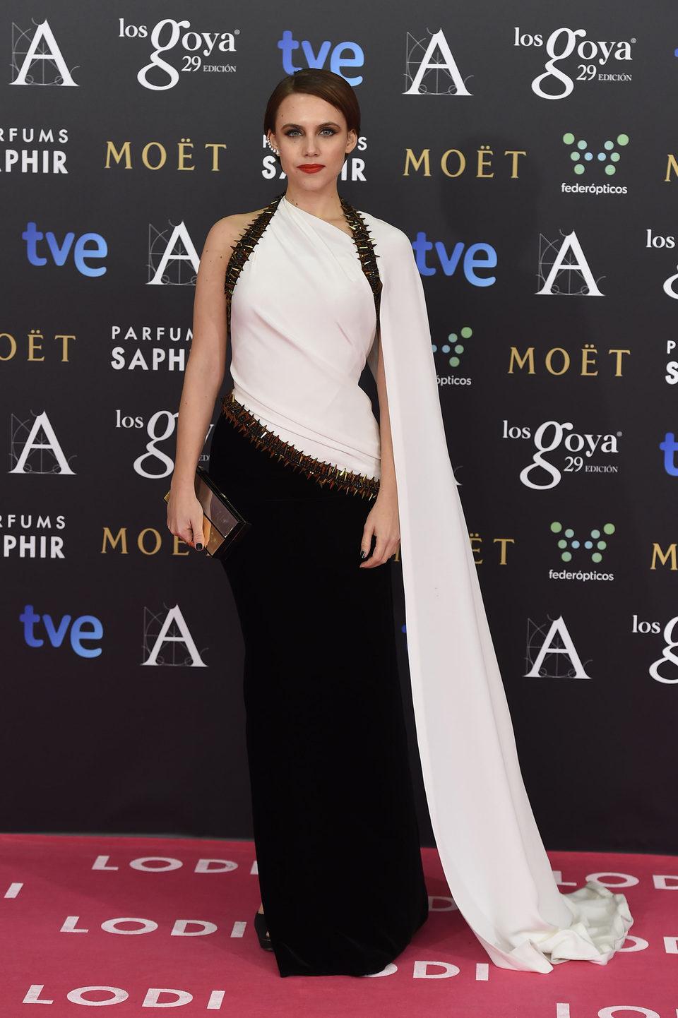 Aura Garrido en los Goya 2015