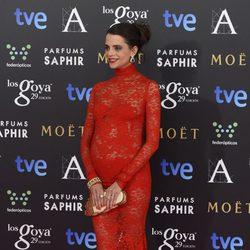 Macarena Gómez en la alfombra roja de los Goya 2015