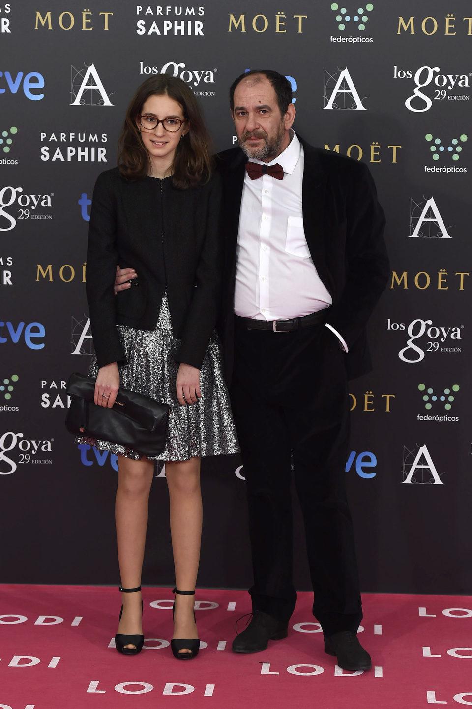 Karra Elejalde en la alfombra roja de los Goya 2015
