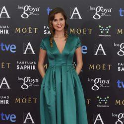 Natalia Sánchez en la alfombra roja de los Goya 2015