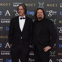 Esteban Roel y Juanfer Andrés en los Goya 2015