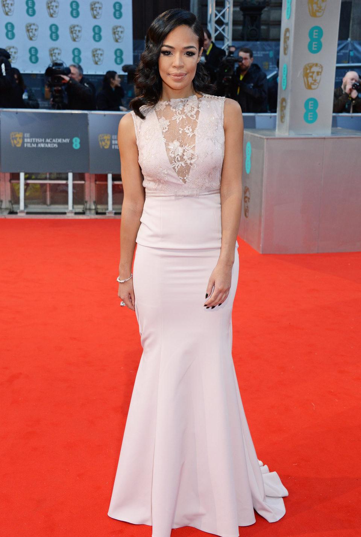 Sarah Jane Crawford en los Premios BAFTA 2015