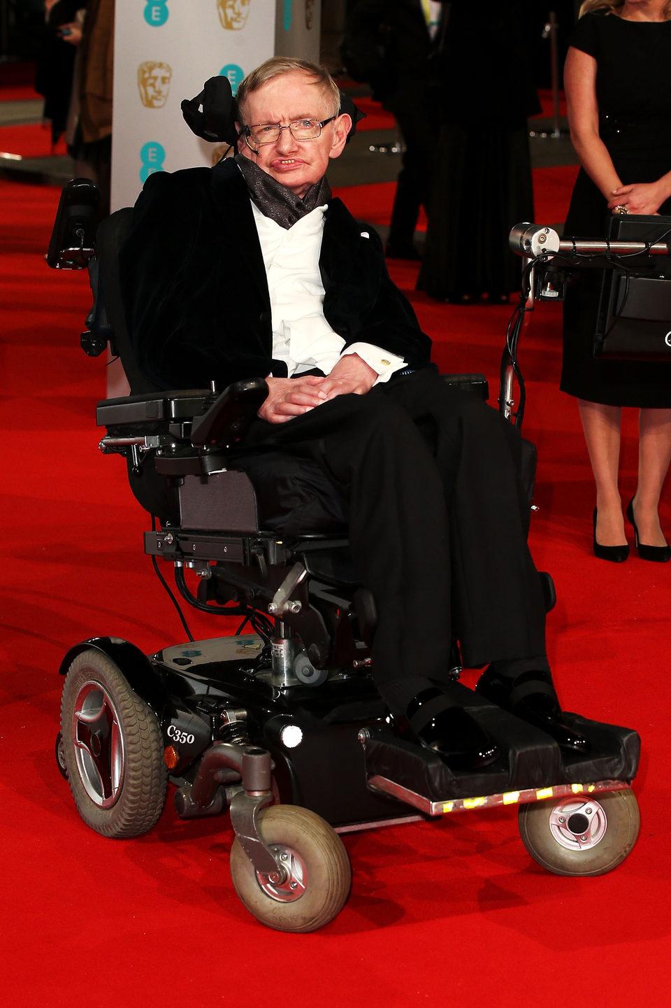 Stephen Hawking en los BAFTA 2015