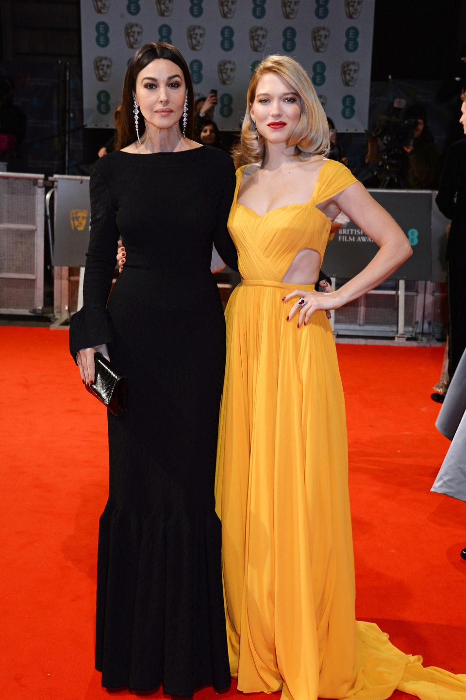 Monica Bellucci y Léa Seydoux en los BAFTA 2015