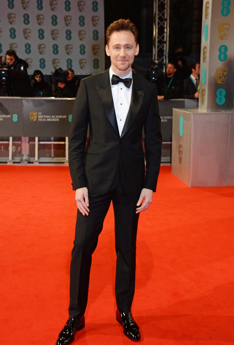 Tom Hiddleston en los BAFTA 2015