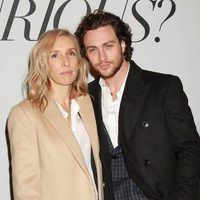 Sam Taylor-Johnson y Aaron Taylor-Johnson en el evento fan de 'Cincuenta sombras de Grey' en Nueva York