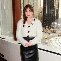 Dakota Johnson en el evento fan de 'Cincuenta sombras de Grey' en Nueva York