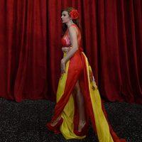 Sonia Monroy at the Oscar 2015 red carpet