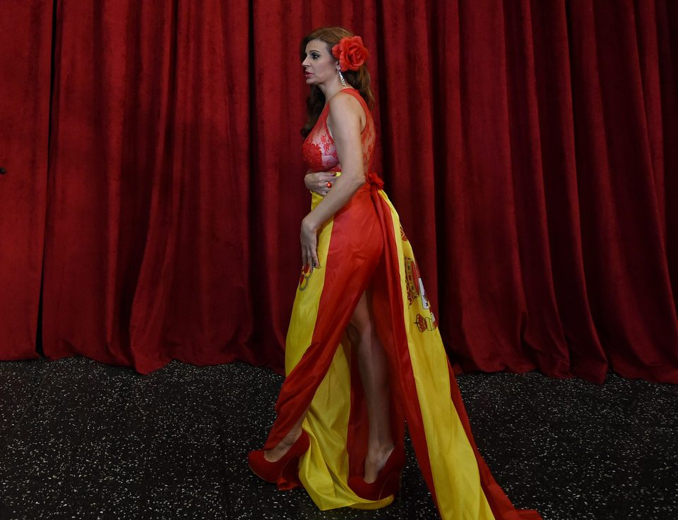Sonia Monroy en la alfombra roja de los Oscar 2015