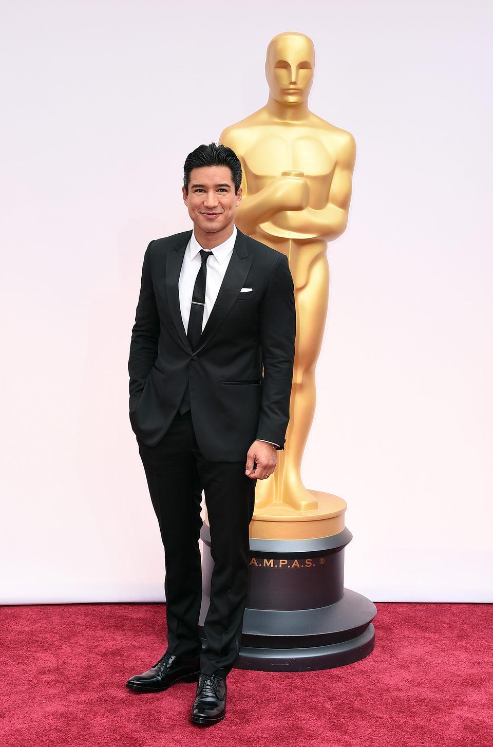 Mario Lopez en la alfombra roja de los Oscar 2015