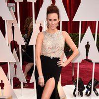 Keltie Knight at the Oscars Awards 2015 red carpet