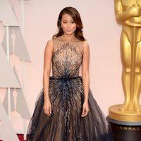 Jamie Chung at the Oscars Awards 2015 red carpet