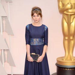 Agata Trzebuchowska en la alfombra roja de los Oscar 2015