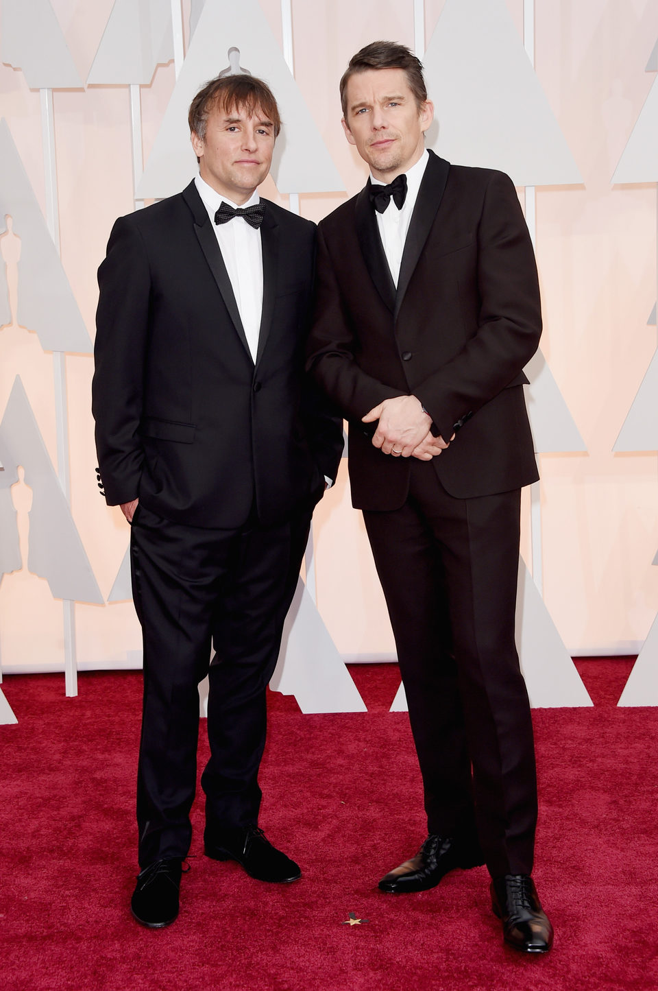Richard Linklater y Ethan Hawke en los Oscar 2015