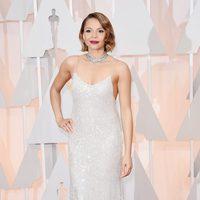 Carmen Ejogo en la alfombra roja de los Oscar 2015