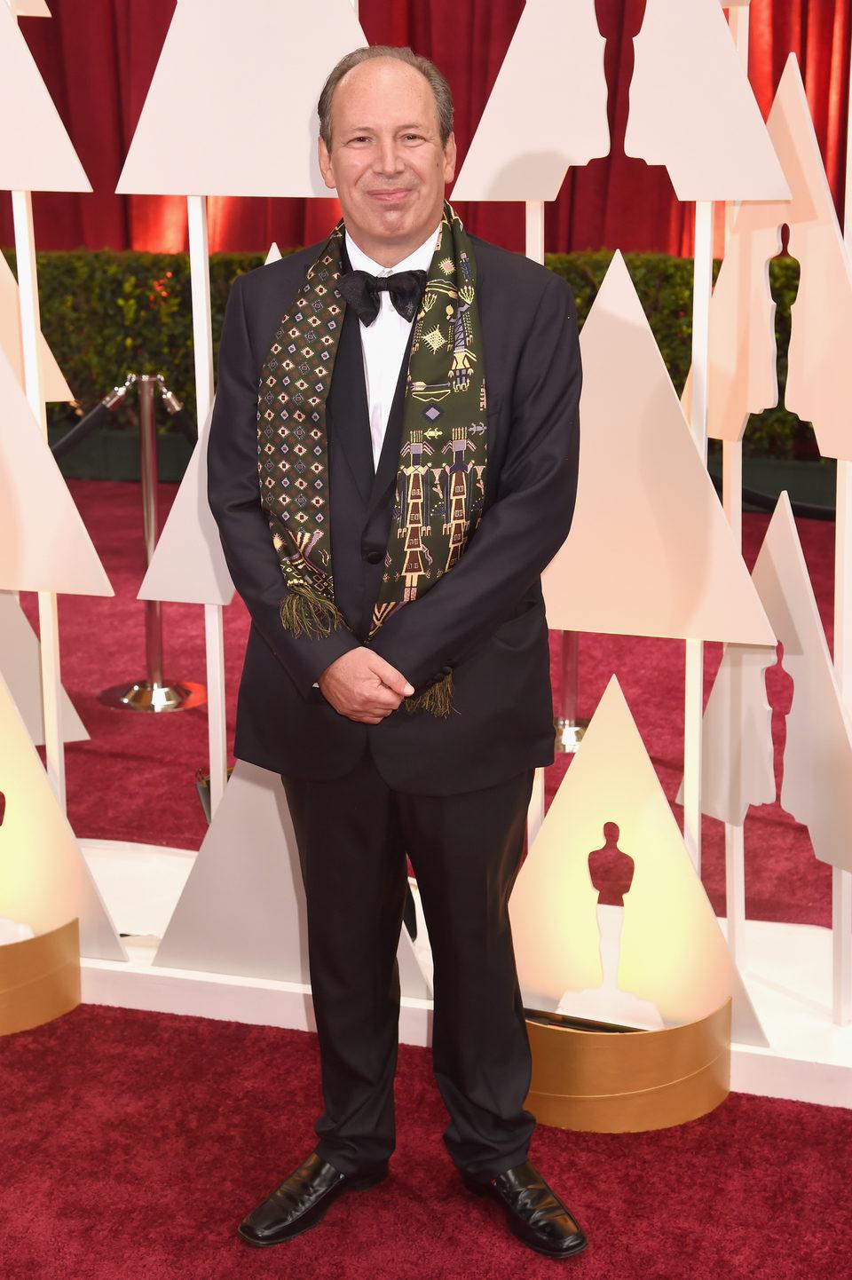 Hans Zimmer en la alfombra roja de los Oscar 2015