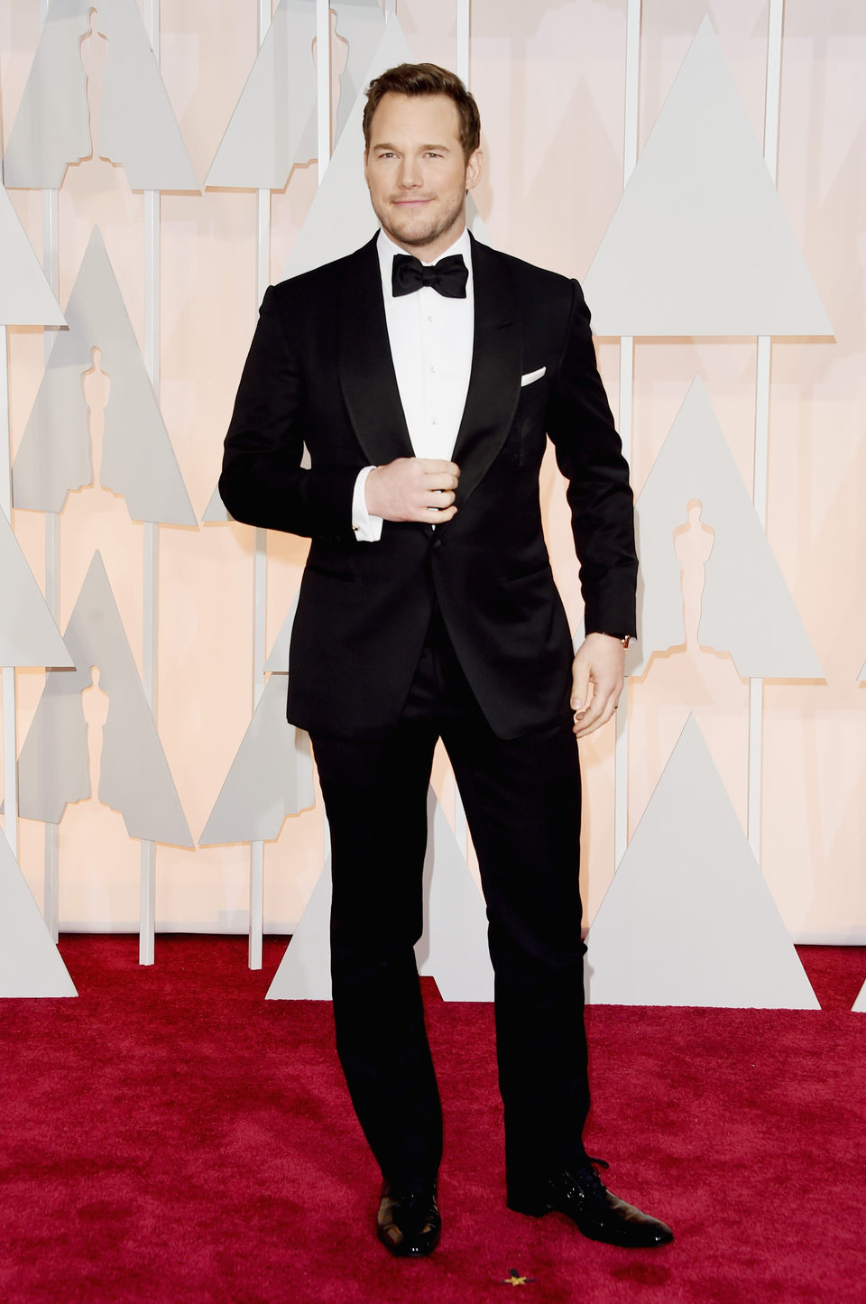 Chris Pratt en la alfombra roja de los Oscar 2015