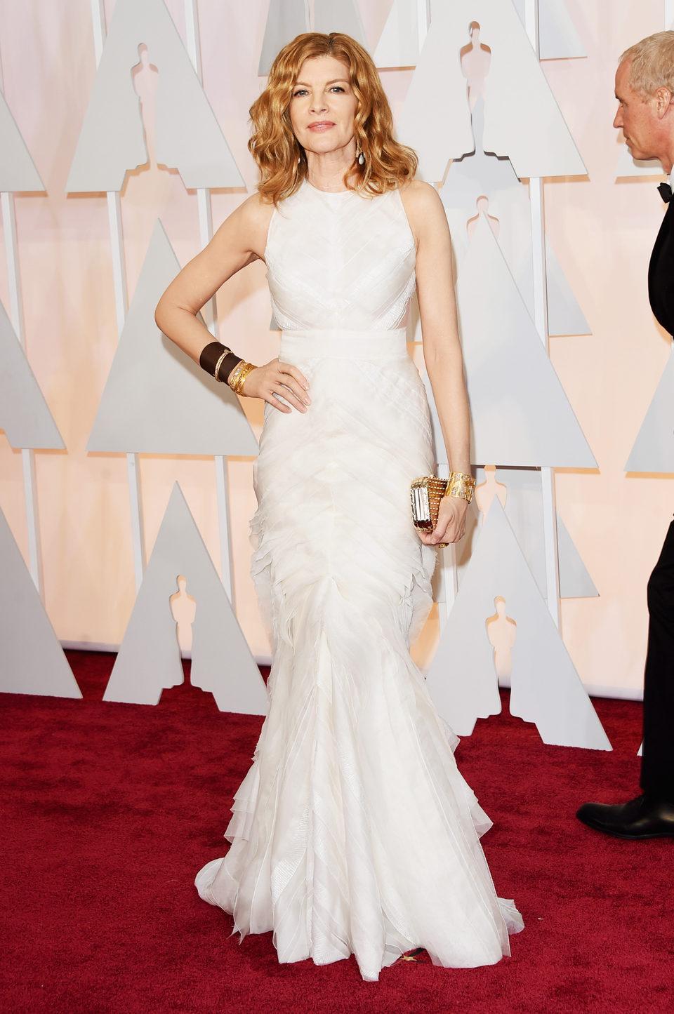 Rene Russo posa en la alfombra roja de los Oscar 2015
