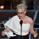 Patricia Arquette recibe el Oscar a Mejor actriz de reparto