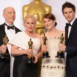 Los cuatro actores ganadores de los Oscar 2015 posan juntos