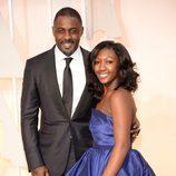 Idris Elba y su hija en la alfombra roja de los Oscar 2015