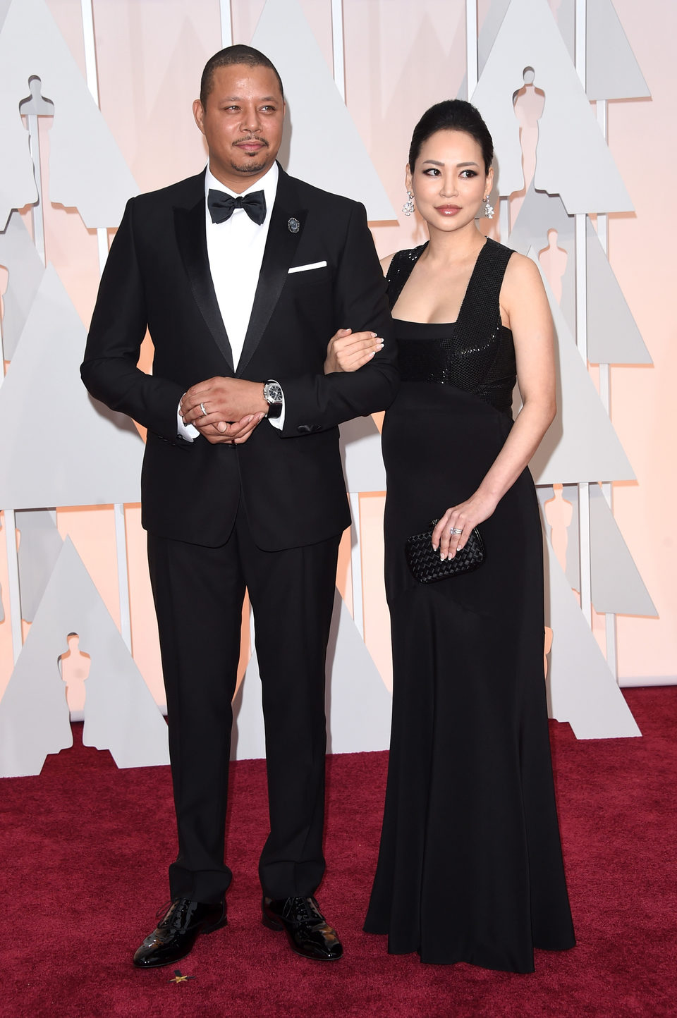Terrence Howard y Miranda Howard en la alfombra roja de los Oscar 2015