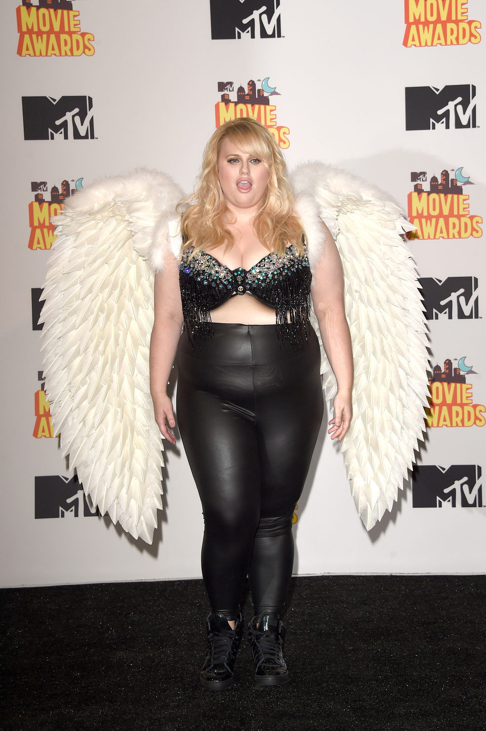 Rebel Wilson durante la ceremonia de los MTV Movie Awards 2015