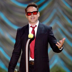 Robert Downey Jr. durante la ceremonia de los MTV Movie Awards 2015