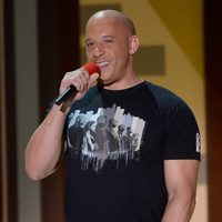 Vin Diesel durante la ceremonia de los MTV Movie Awards 2015
