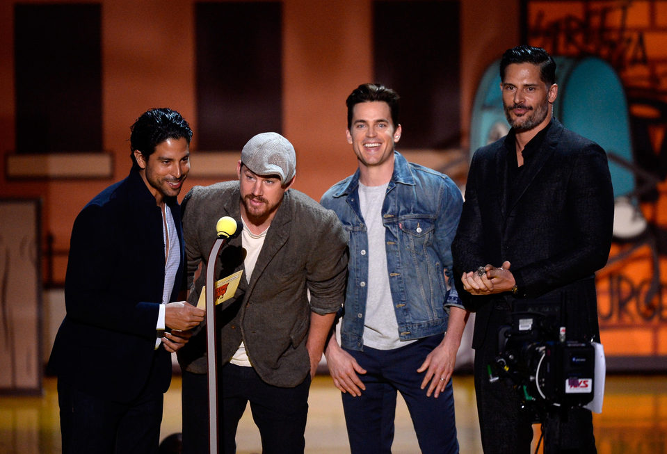 El reparto de 'Magic Mike XXL' durante la ceremonia de los MTV Movie Awards 2015