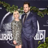 Anna Faris and Chris Pratt at the 'Jurassic World' premiere in California