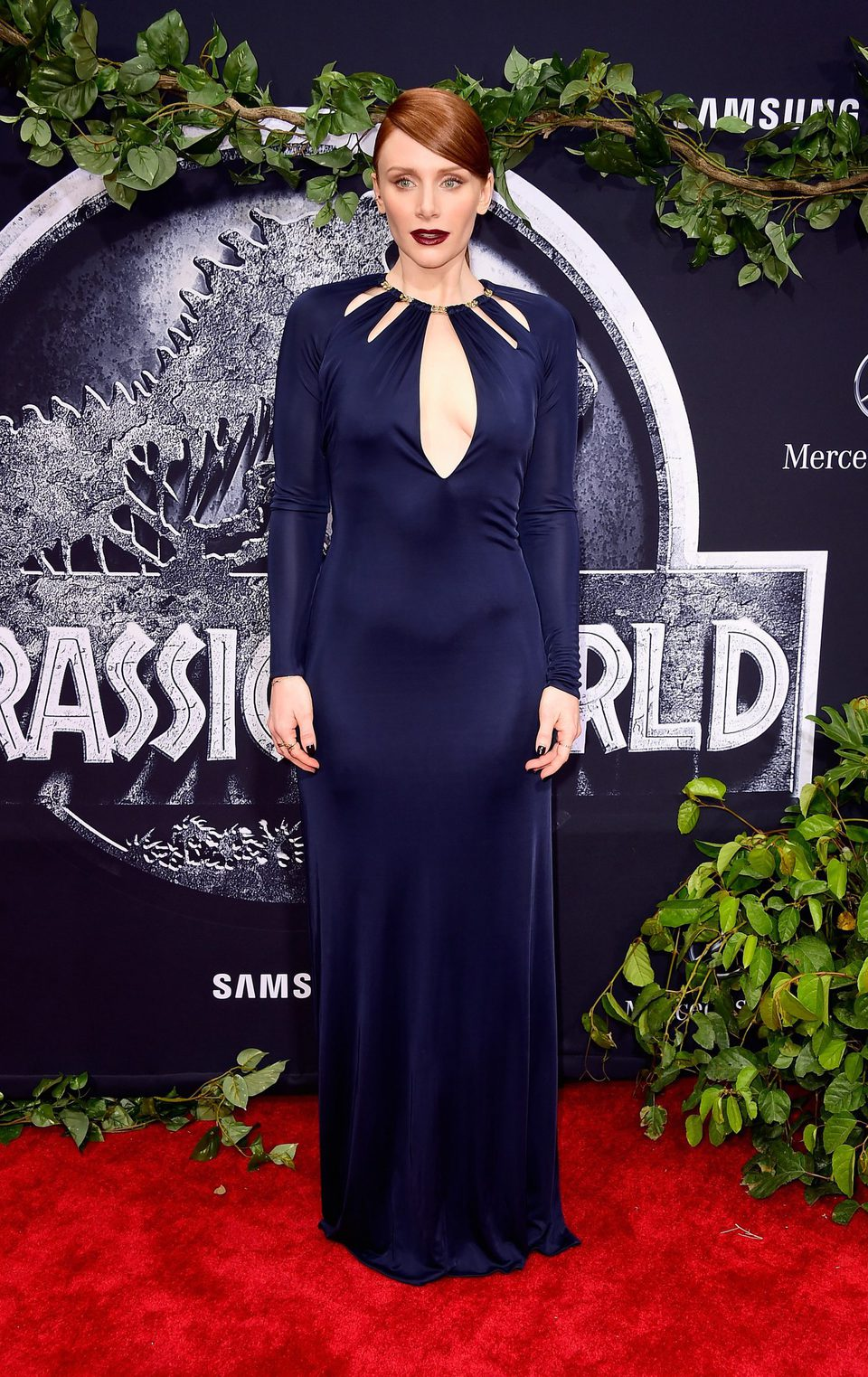 Bryce Dallas Howard radiante en la premiere de 'Jurassic World'