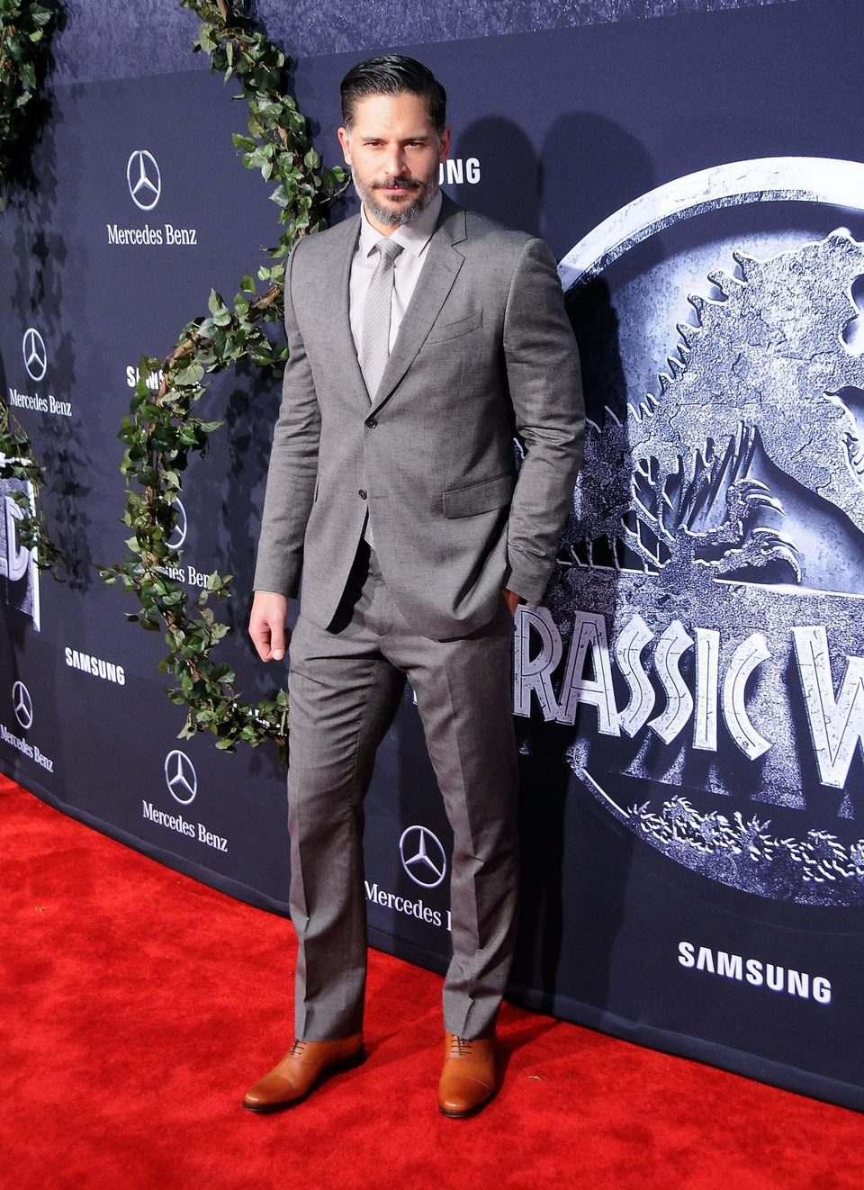 Joe Manganiello en el photocall de la premiere de 'Jurassic World'