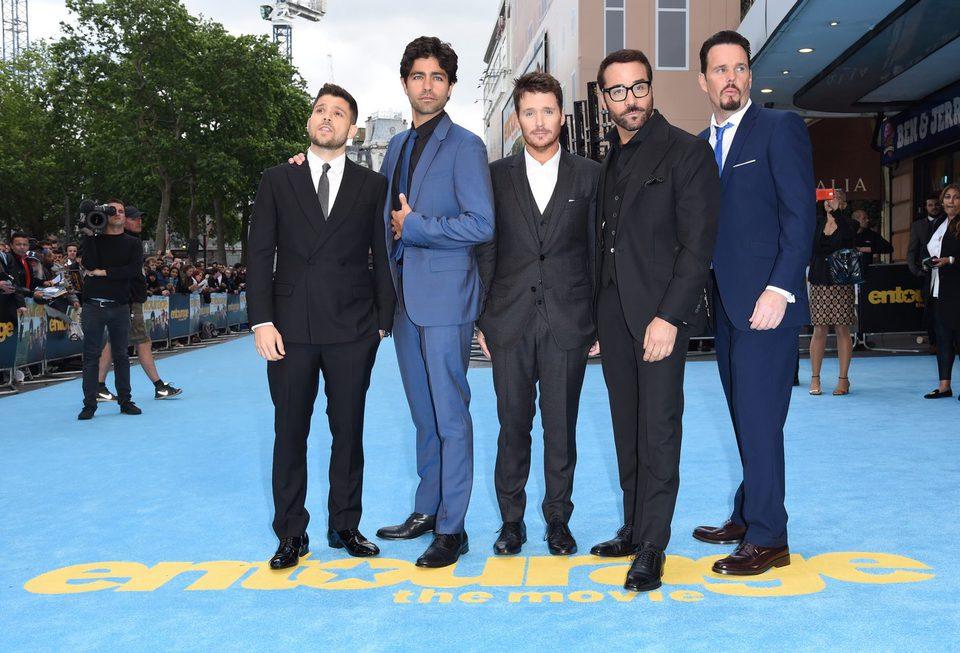 El reparto del film en la premiere europea de 'Entourage'