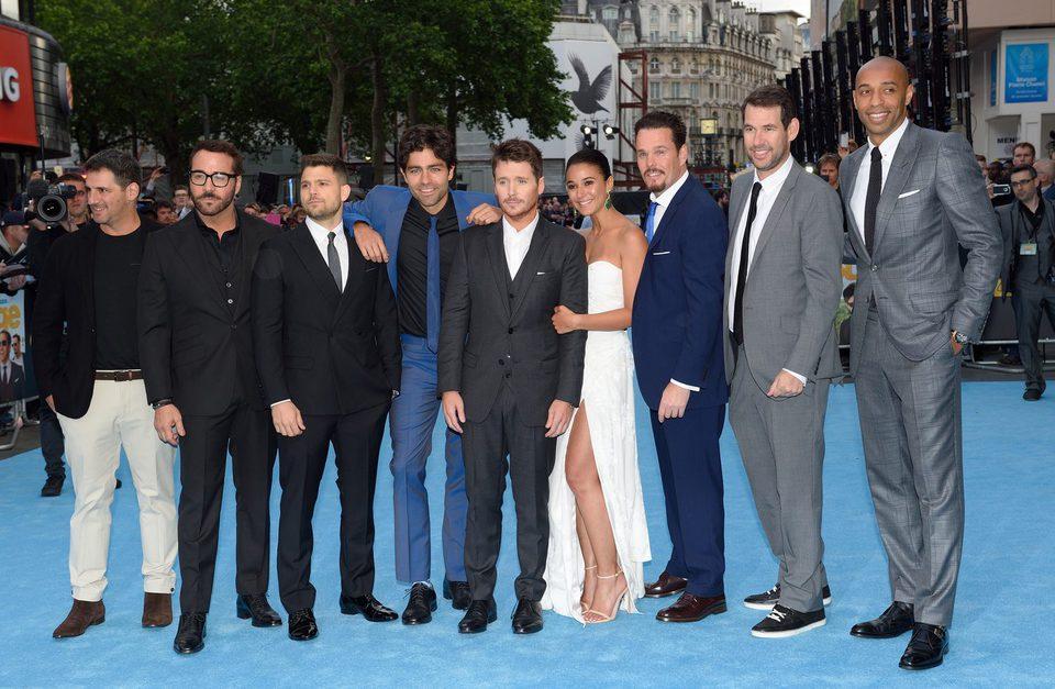 El reparto de 'Entourage' posa en la premiere europea de Londres