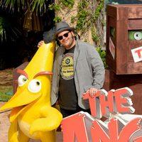 Josh Gad y su pajaro en el Summer of Sony 2015