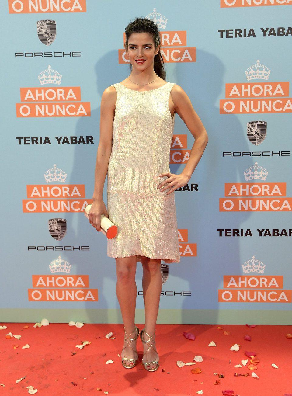 Clara Lago en la premiere de 'Ahora o nunca'