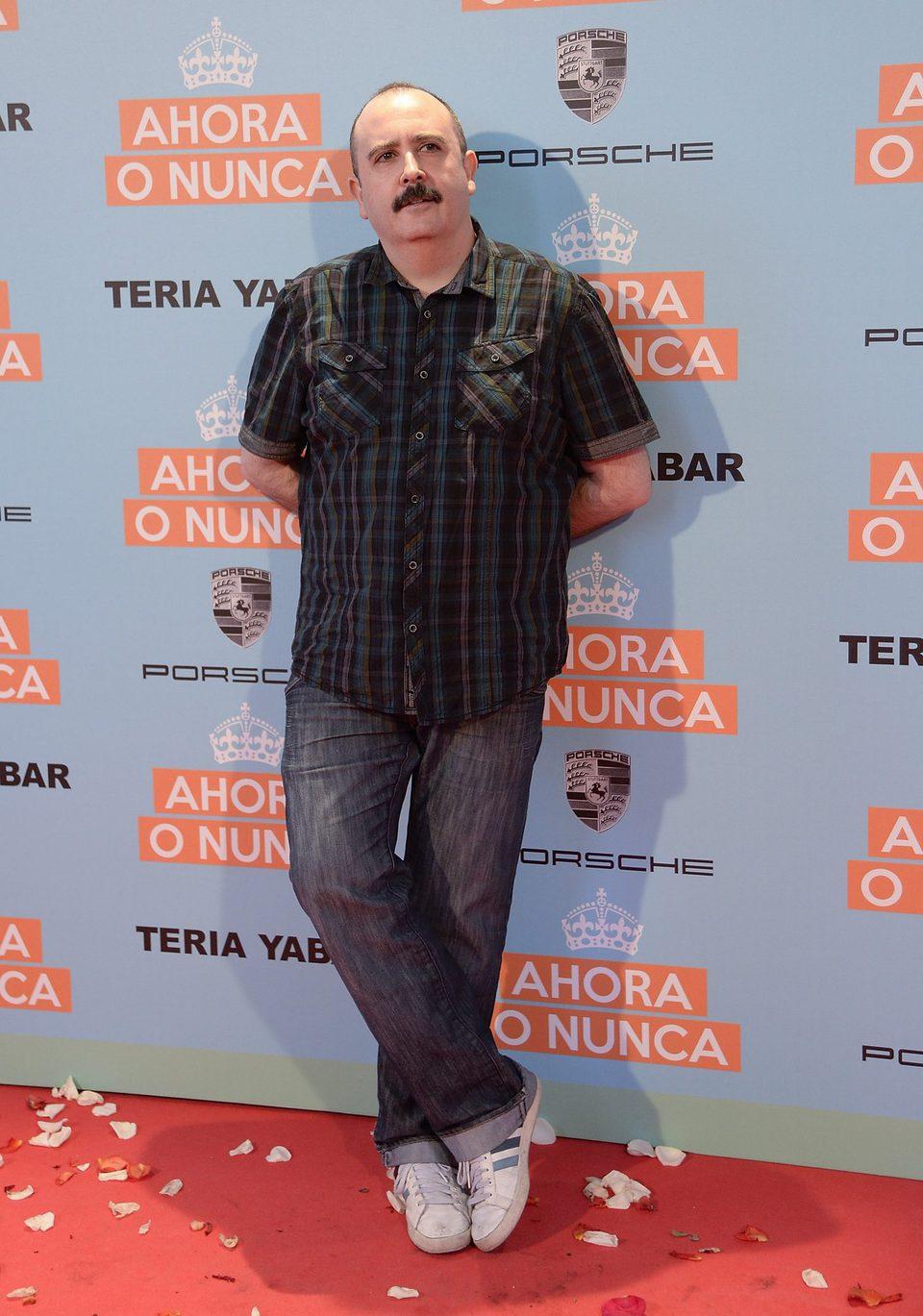 Carlos Areces en la premiere de 'Ahora o nunca'