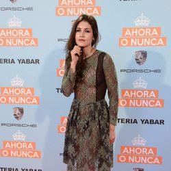 Nerea Barros en la premiere de 'Ahora o nunca'
