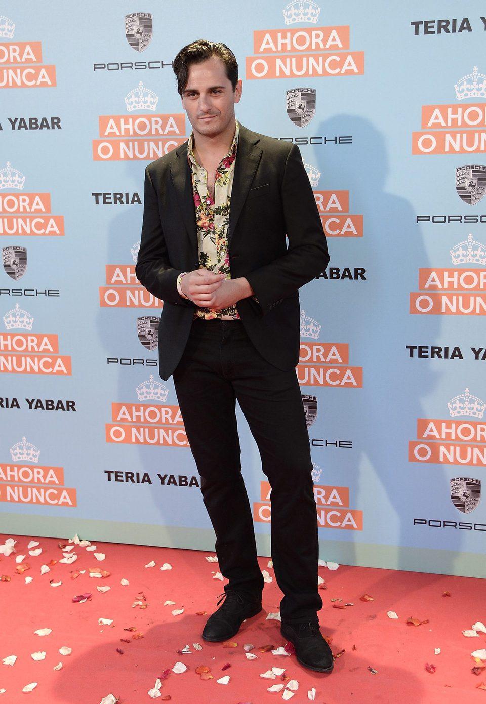 Asier Etxeandia en la premiere de 'Ahora o nunca'
