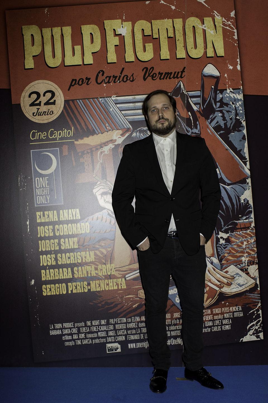 Carlos Vermut en el photocall de One Night Only: 'Pulp Fiction'
