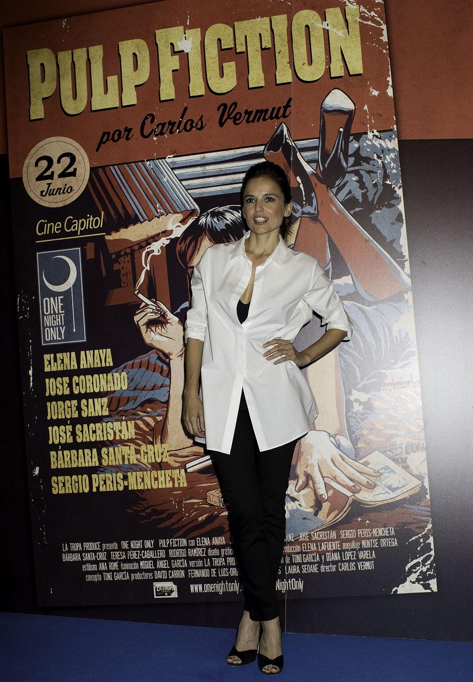 Elena Anaya en el photocall de One Night Only: 'Pulp Fiction'