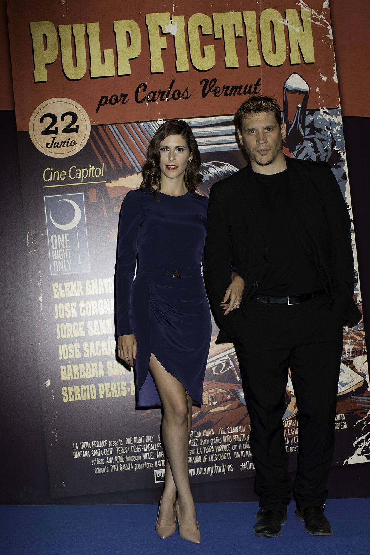 Bárbara Santa-Cruz y Sergio Peris-Mencheta en el photocall de One Night Only: 'Pulp Fiction'