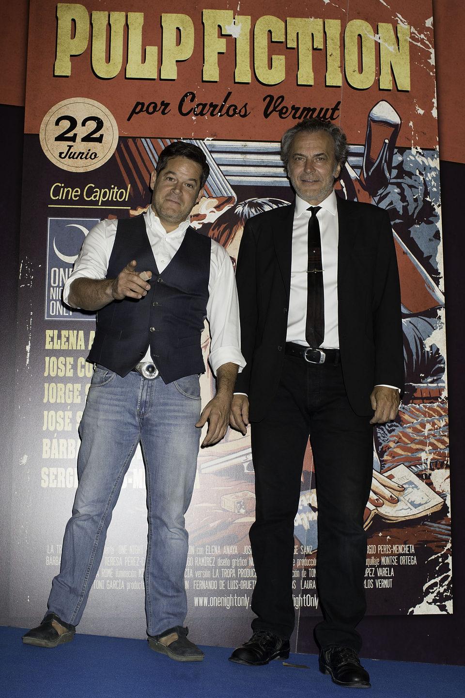 Jorge Sanz y José Coronado en el photocall de One Night Only: 'Pulp Fiction'
