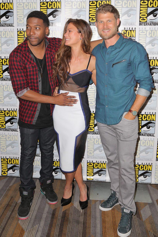 Jocko Sims, Rhona Mitra y Travis Van Winkle en la Comic-Con 2015