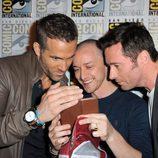 Ryan Reynolds, James McAvoy y Hugh Jackman en la Comic-Con 2015
